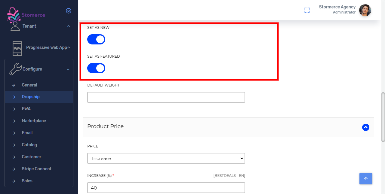 Set Product visibility on the front end in the new or featured category section.